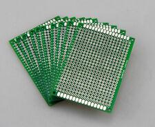 10PCS Double Side Prototype PCB Tinned Universal Breadboard 5x7 cm 50mmx70mm