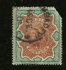 ALTES INDIEN 3 RUPEES MARKE KÖNIGIN VICTORIA INDIA QUEEN VICTORIA FAULTY DEFEKT