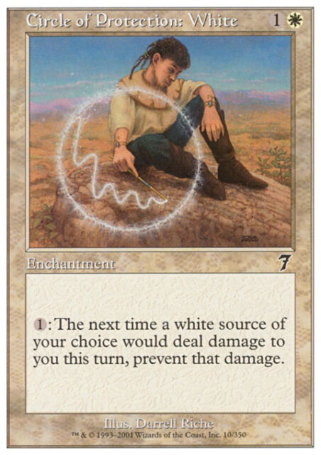 MTG Magic - (C) 7th Edition - Circle of Protection: White - SP