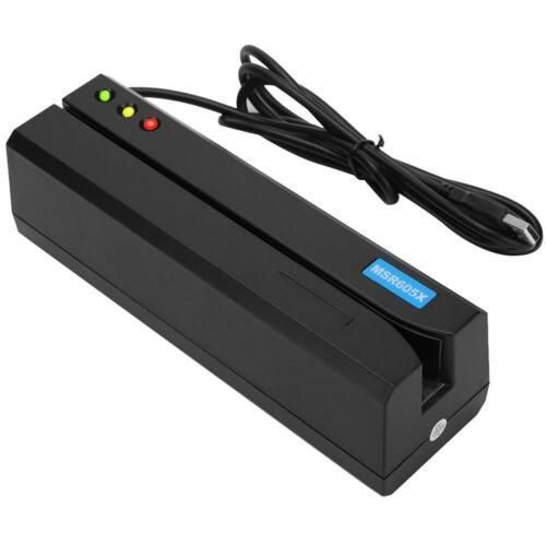 MSR605X Magnetic Stripe Credit Card Reader  Magstripe Writer LED 3-Tracks Black