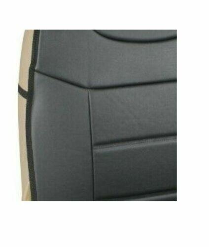 2x Schonbezüge Schwarz Kunstleder Autositzbezüge für Skoda Toyota Suzuki Subaru