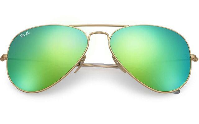 1d635b1a4 ... order new ray ban rb3025 112 19 gold aviator sunglasses w mirrored  green lenses 61e1c 9dd0c