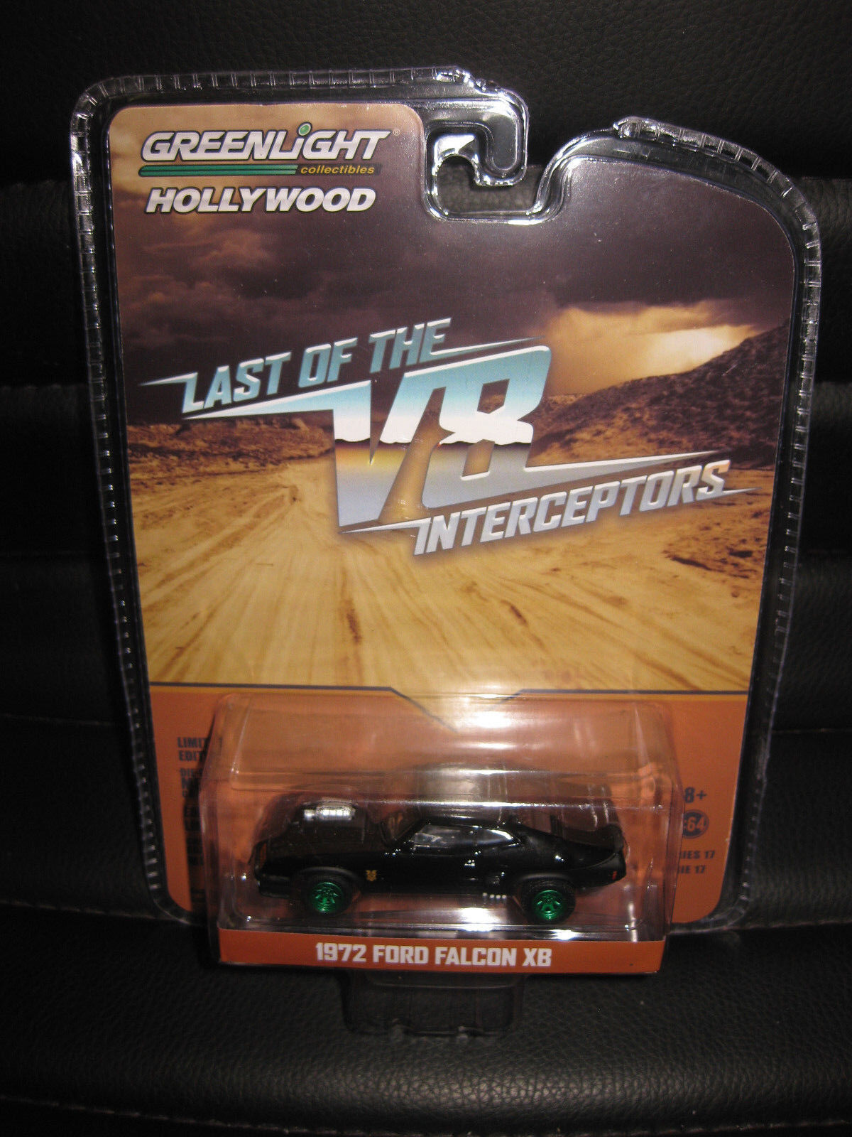 1 64 GREENLIGHT Mad Max V8 Interceptor 1972 Ford Falcon XB MOVIE CAR GREEN WHEEL