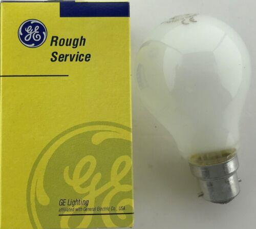 GE 100W 110 Volt low voltage BC 100 Watt Rough Service Pearl GLS Y1