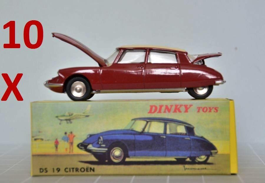 10X CITROEN DS 19 Atlas Dinky Toys number 530 - 1 43 Norev DS19 CITROEN