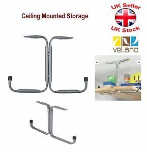 Image Is Loading 2 X Tool Ceiling Mounted Storage Rack Hanger