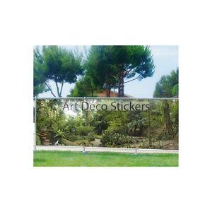 Brise vue imprimé, jardin, terrasse, balcon déco Forêt 9145 | eBay