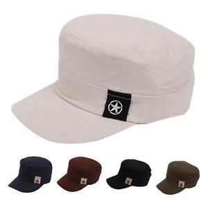 4a2bc1608f1 Details about Men Women Casual Brim Outdoor Flat Twill Corps Military Army  Baseball Cap Hat BS