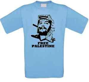 Chestnut-Palestine-Guevara-Palestine-Free-Palestine-CUBA-T-SHIRT-ALL-SIZES-NEW