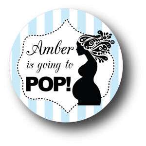 Image Is Loading 30 Ready To POP Boy Baby Shower Personalized
