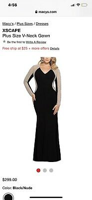 XSCAPE Plus Size V-Neck Gown Sold.....Sold Out Everywhere | eBay
