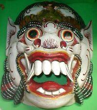 Mask Bali  Raksaksa Gargoyle Demon  Hand carved Extra LARGE 20 x 15 inch Wood