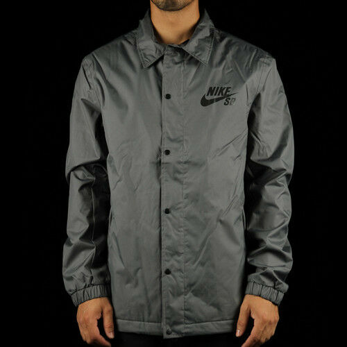 Nike SB Assistant Coaches Snowboarding Jacket LARGE 807941 021 Grey Black