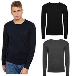 NUOVA-Linea-Uomo-Girocollo-Maglione-Belle-maglia-a-manica-lunga-scollo-tondo-pullover-sweater