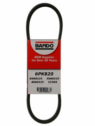 OF AMERICA Serpentine Belt -BANDO MFG 6PK820- FAN BELTS INC