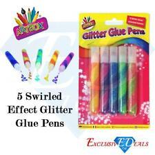 10Pc Glitter Glue Gel Pens Tubes Assorted Sparkly Colours Kids Art Craft DIY