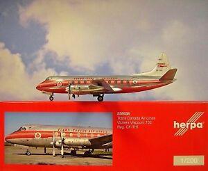 Herpa Wings 1: 200 700 De Vickers Vicomte De Trans Canada Air Lines Cf-thi 558938