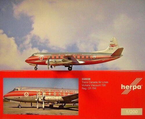 Herpa Wings 1:200 Vickers Viscount 700  Trans Canada Air Lines CF-THI  558938