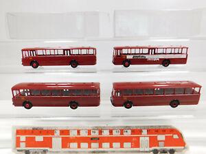 CK819-0-5-4x-Brekina-H0-1-87-Bus-Mercedes-MB-O-317-K-DB-Miba-etc-sehr-gut