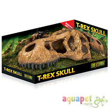 Reptile Snake Exo Terra Realistic T-Rex Skull Fossil Hide Out Decoration