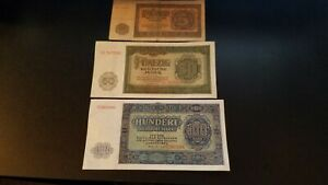 East Germany 5 note set 1955 UNC DDR 5-100 Marks