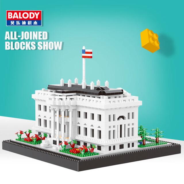 Baukästen Gebäude Balody Architecture USA White House Mini Diamond Modell OVP