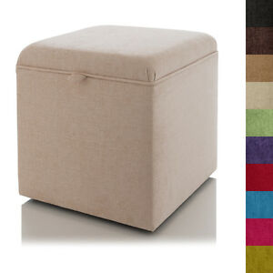 Image Is Loading NEW STORAGE OTTOMAN FOOTSTOOL BLANKET BOX DRESSING TABLE