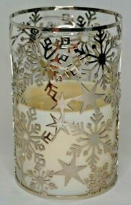Bath-amp-Body-Works-Snowflake-Fragrance-Melt-Warmer-3-Wick-Candle-Wrap-Sleeve