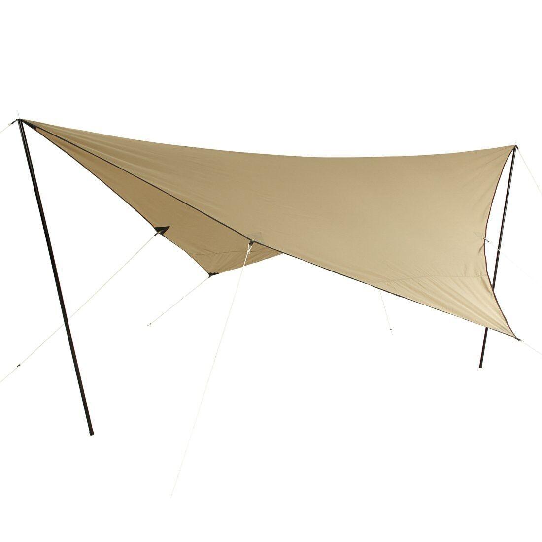 10T T C Tarp 4x4 UV-50+ - Telone parasole, 400x400 cm con pali di montaggio e pi