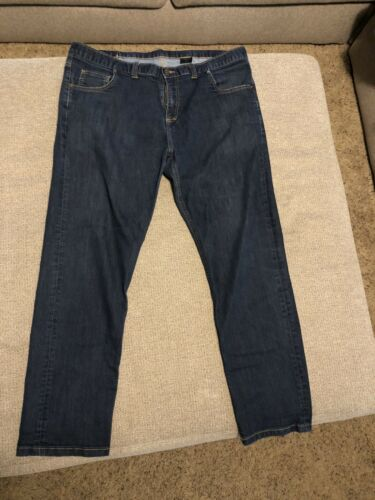 Dearborn Stretch Denim Jeans 42X30 Dark Wash Stret