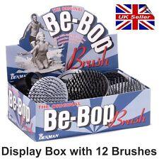 12 x Denman D6 Be Bop Hair Brush Gentle Shampoo Scalp Massage. Black / Silver