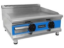 """Uniworld 24"""" Single Thermostat Natural Gas Griddle with °F and °C Adjustable Dua"""