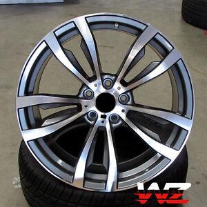 20 Quot Rims 469 Style Fits Bmw X5 X6 X5m X6m Xdrive Gunmetal Machined Wheels 5x120 767408750479 Ebay