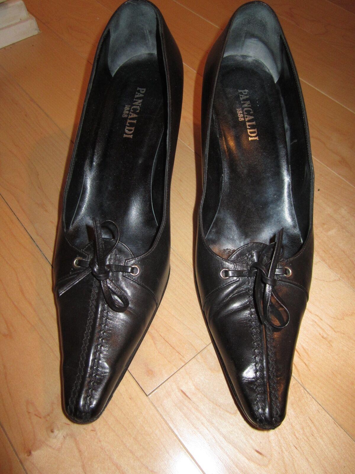 sconto online di vendita Pancaldi nero Leather Pump with lace up detail detail detail Dimensione 10.5  prodotti creativi