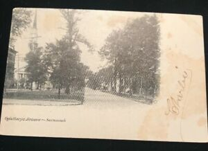 OGLETHORPE-AVENUE-CHURCH-SAVANNAH-GEORGIA-POSTCARD-Pre-1907