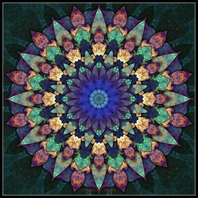 Fractal Mandala 6 Chart Cross Stitch Patterns Xstitch Needlework Craft DIY DMC