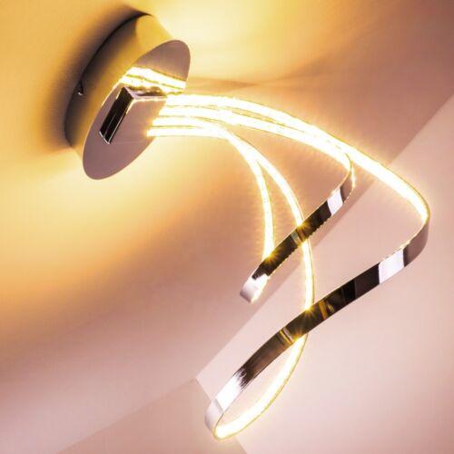 Design LED Deckenleuchte Lampe Chrom Deckenstrahler Leuchte Deckenlampe Leuchten