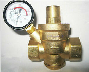 new 1 39 39 brass water pressure reducing valve 1 39 39 bspp with pre. Black Bedroom Furniture Sets. Home Design Ideas