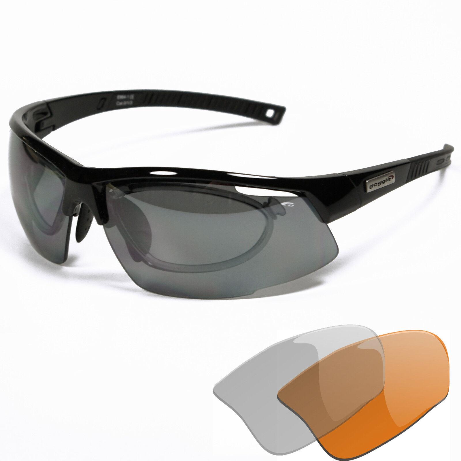 Brillenträger Brillenträger Brillenträger Radbrille Sportbrille mit Optik-Clip bd19df