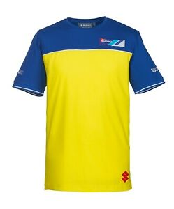 Suzuki-Team-Yellow-2019-T-Shirt-Yellow-amp-Blue-Adult-Tee-NEW-990F0-YLTS3