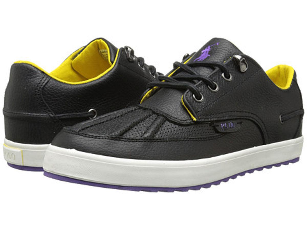 Polo Ralph Lauren RAMIRO Men Size 8.5 Black Duck shoes New in Box