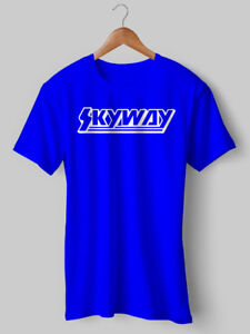 Skyway T Shirt BMX Ciclismo Felpa Con Cappuccio Moto Retrò Mongoose Haro NUOVO Stampato