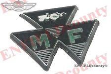 NEW FRONT BLACK MOTIF BADGE MASSEY FERGUSON 35 FE35 TRACTOR # 828136M1 @ECspares