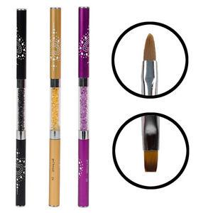 Nail-Art-Rhinestone-Handle-Double-headed-Acrylic-Kolinsky-Brush-Pen-1pc
