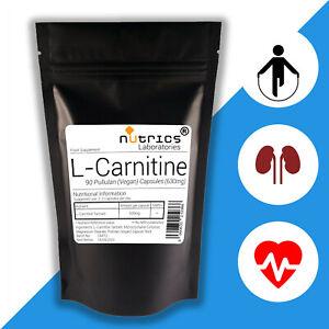 NUTRICS-L-Carnitina-630mg-x-90-Vegano-Capsule-Perdita-Di-Peso-non-compresse-in-polvere