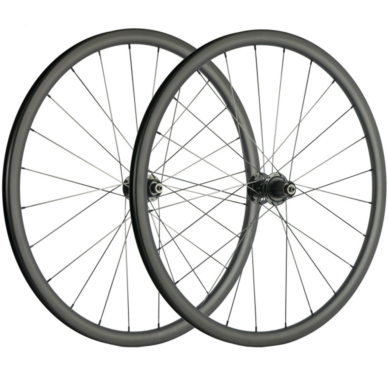 700C Carbon Wheelset 30mm Disc Brake Road Bike  Wheels Axle Thru QR CX3 hub  high quality