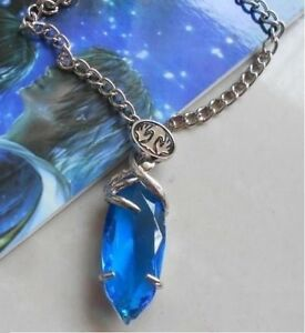 Final fantasy x cosplay blue stone gem crystal amulet necklace image is loading final fantasy x cosplay blue stone gem crystal mozeypictures Image collections