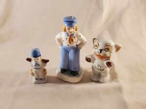 Salt & Pepper Shakers Miscellaneous Lot Of 3 Vintage Made In Japan