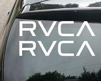 2x LARGE RVCA SURF Car/Van/Window JDM VW DUB VAG EURO FAT Vinyl Decal Sticker