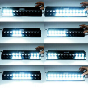 12V-LED-White-Car-Truck-Warning-Emergency-Strobe-Light-Flashing-Dash-Beacon-Lamp